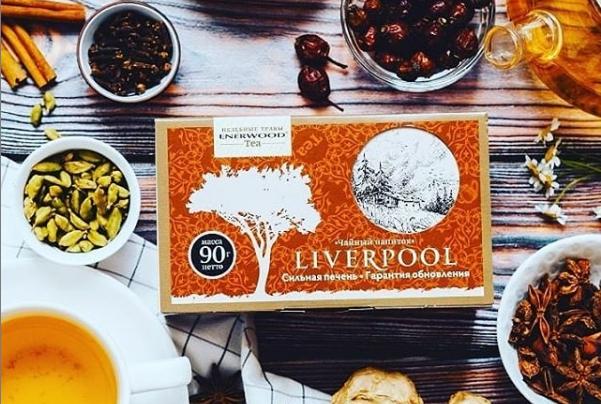 Упаковка чая Ливерпуль